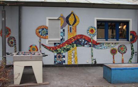 Hk Skulpturen Kunst Am Bau Wandgestaltung Mit Mosaik