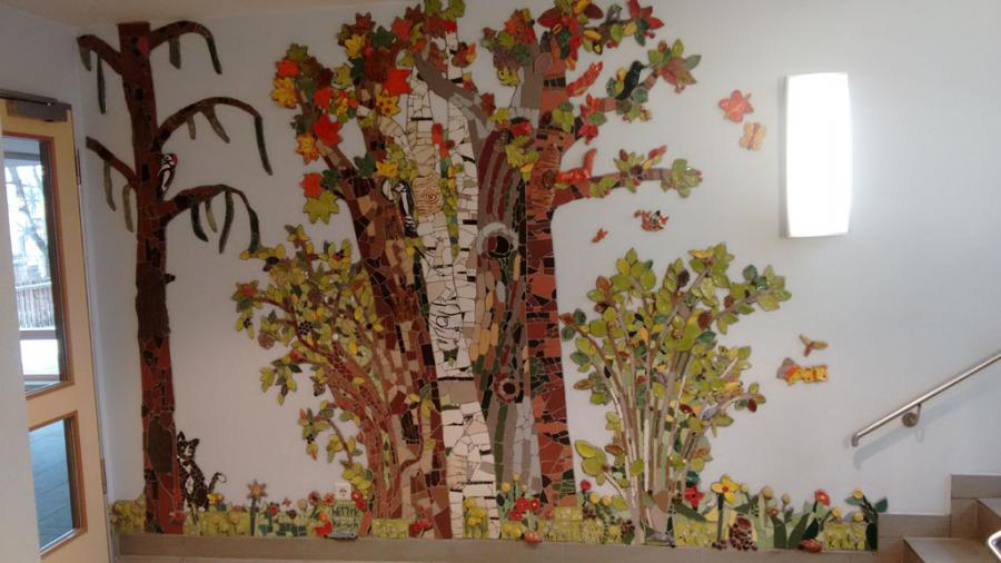 hk-skulpturen - Kunst am Bau - Wandgestaltung mit Mosaik